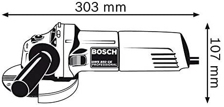 medidas amoladora bosch gws 850